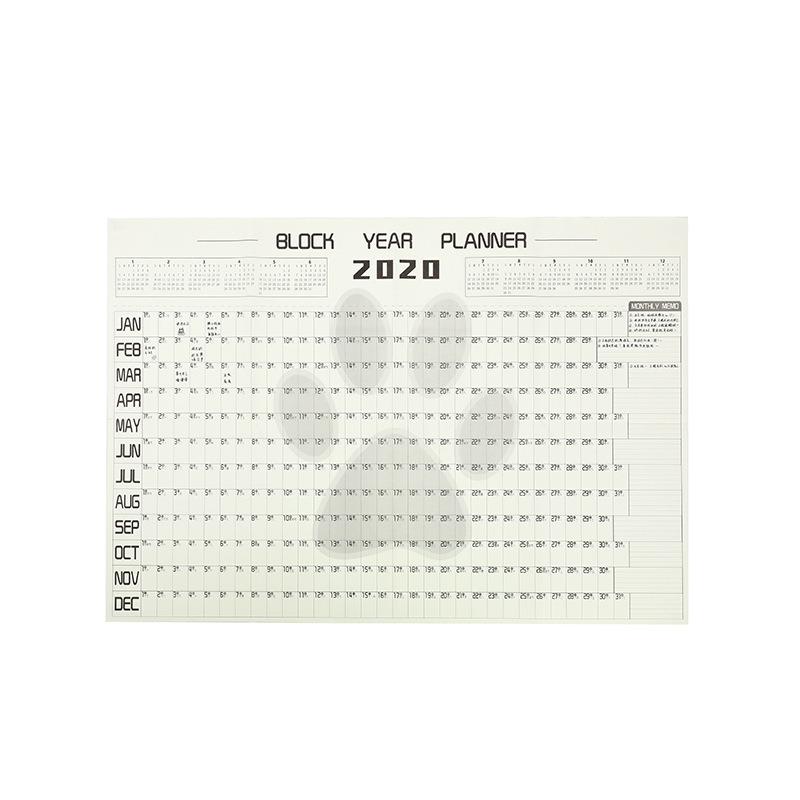 2020, 365 дней, планировщик, настенный бумажный календарь, офисный, школьный, ежедневный планировщик, заметки, Расписание, ежедневное расписани...(Китай)