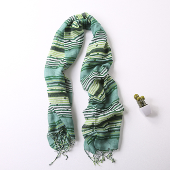 Fashion Custom Design Women Soft 50%Cotton 50%Linen Thin Scarf