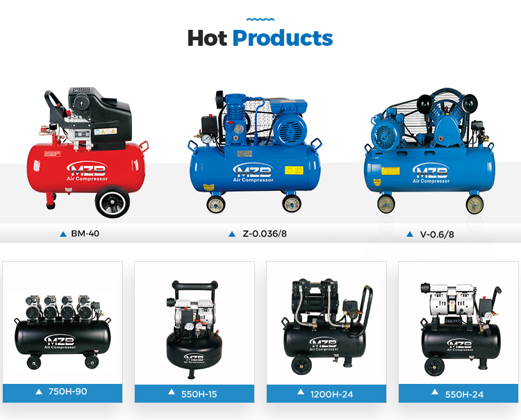 220v mini air compressor with tank with factory price