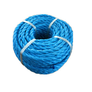 Not recycled materials twisted PE PP rope for korea market