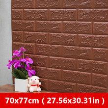 70x77 см DIY 3D стикер на стену s самоклеющийся пенопластовый кирпич для декора комнаты обои для декора стен Жилая Наклейка на стену для детской к...(Китай)