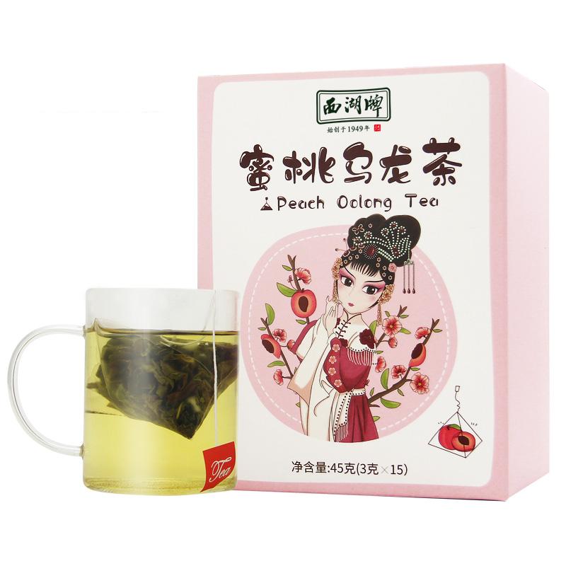 45g boxed superfine Oolong Tea mixed with Dried peach apple fruit Chinese Tea bag for Herbal Tea - 4uTea | 4uTea.com