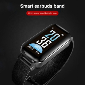 Krx Waterproof Wristband Watch Smart With Wireless Earbuds 2In1 Bluetooth Headset & Bracelet
