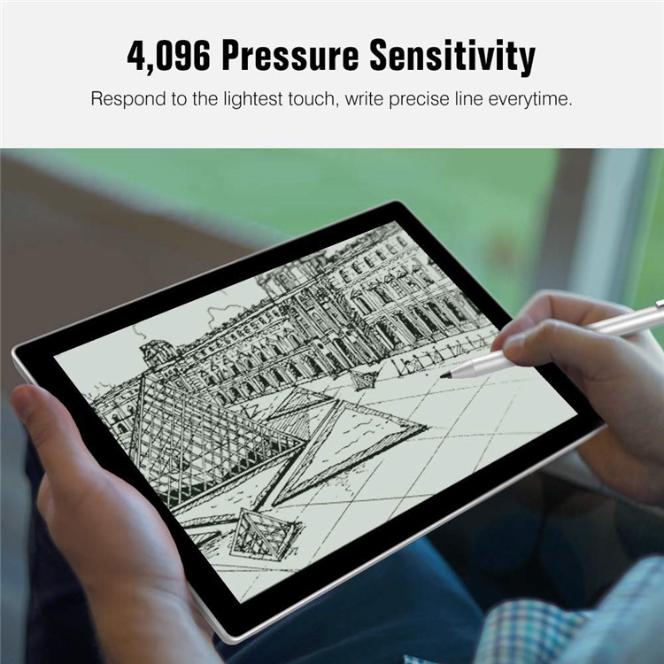 MoKo New Active Stylus Pen with 4096 pressure level for Microsoft Surface Pen for Surface 3/Go/Book/Laptop/Studio