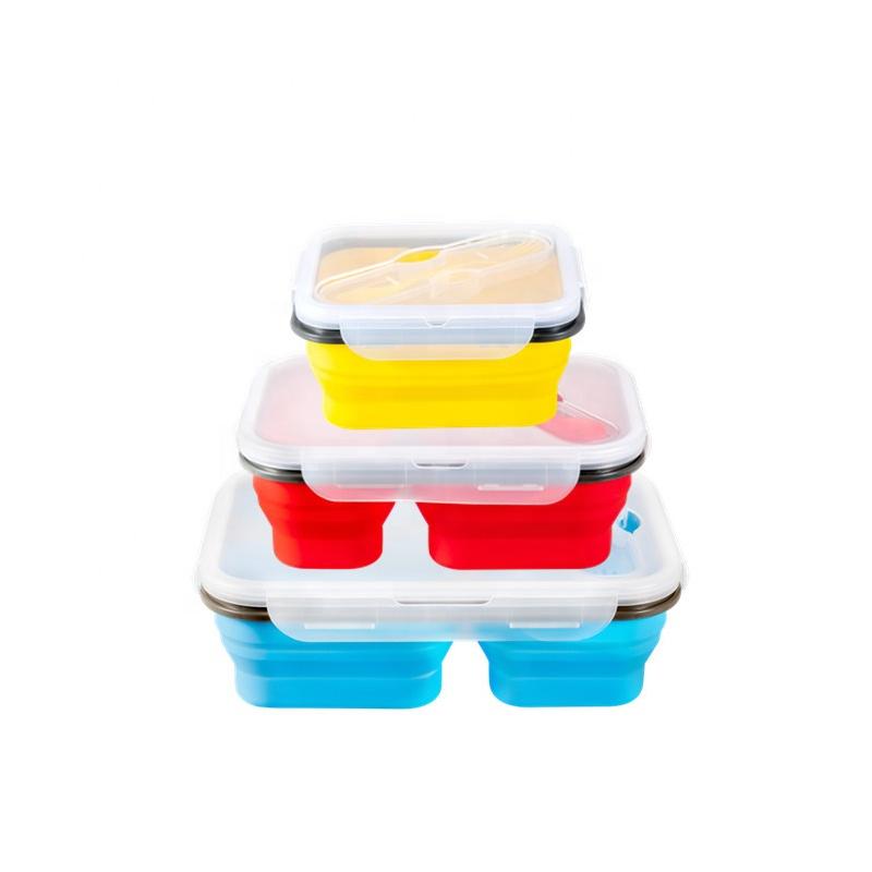 Pieghevole panino pieghevole di stoccaggio pieghevole scatola di bento lunch pieghevole in silicone