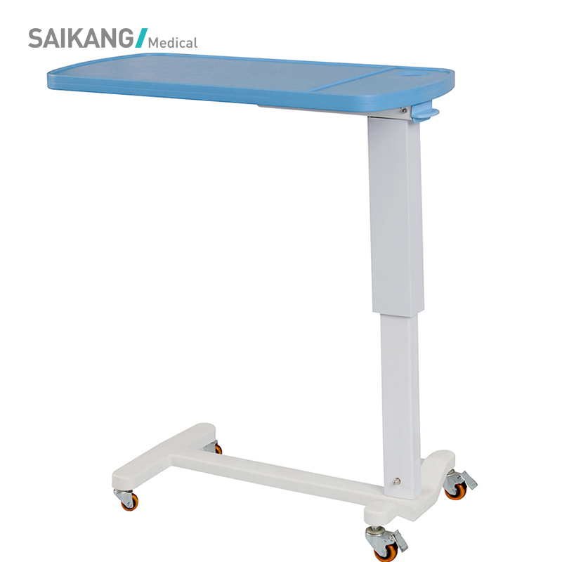 SKH046-2 Cheap Adjustable Medical Hospital Overbed Table