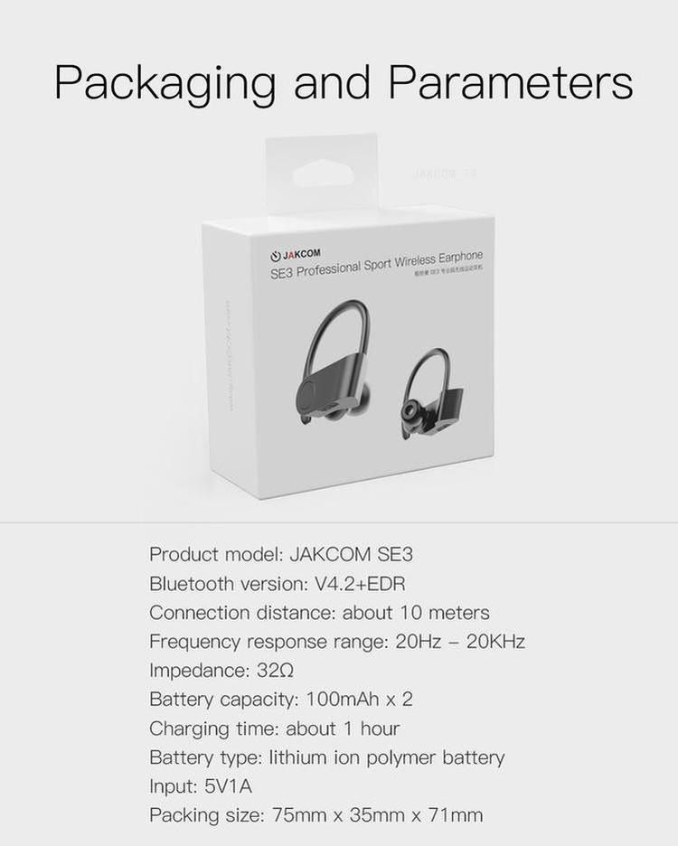 JAKCOM SE3 Professional Sport Wireless Earphone New Trending Of Earphone Accessories Hot Sale With Consumer Electronics Gadgets