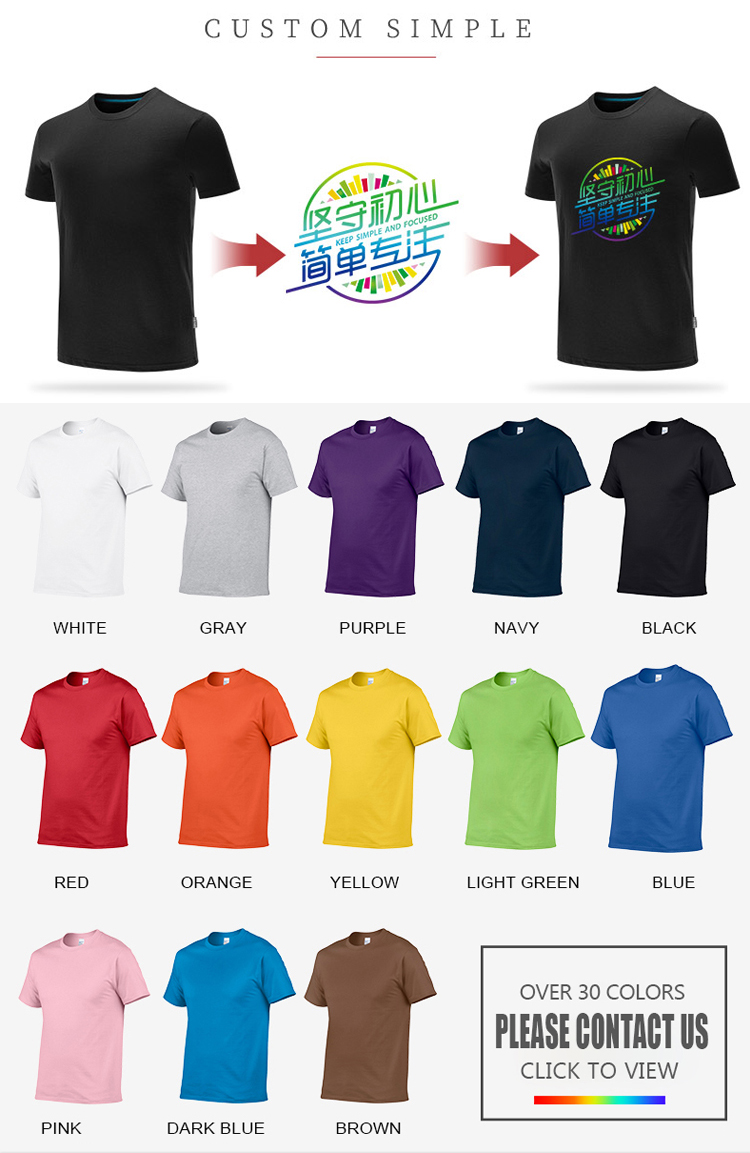 Cina Pabrik Dropship Kornit Mesin Grafis DTG Kaos Custom T Sablon Kaos Pria Lengan Pendek Kaos Polos Putih