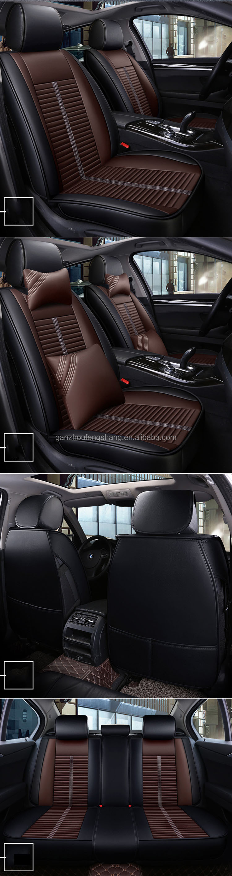 Wholesale Waterproof Leather Car Seat Cover Universal 5seats Car Seat Cushion Cover