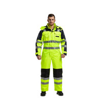High Quality 100% Polyester Winter Outdoor Hi Vis Waterproof Coverall
