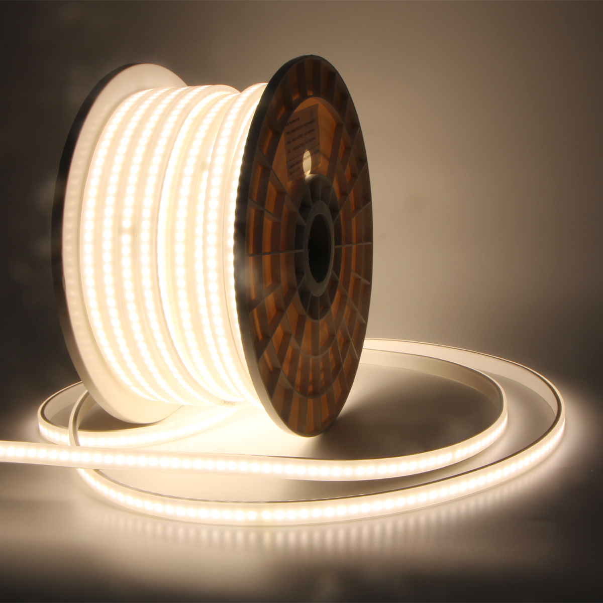 AC110V AC220V Outdoor tree home hotel decoration lighting waterproof 50M roll  IP65 diffuse led strip light