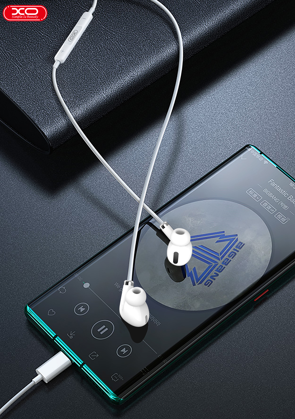 XO EP23 Type-C Interface 2020 Hot Sell Product Music Earphone In ear Earphone Quality Headset with Stereo Earphones for iPhone