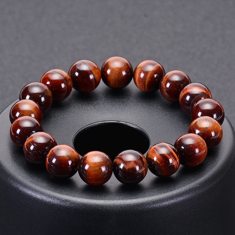 Natural <strong>Red</strong> <strong>Tiger</strong> <strong>Eye</strong> Single <strong>Bracelet</strong> <strong>Tiger</strong> <strong>Eye</strong> Stone <strong>Bracelet</strong>