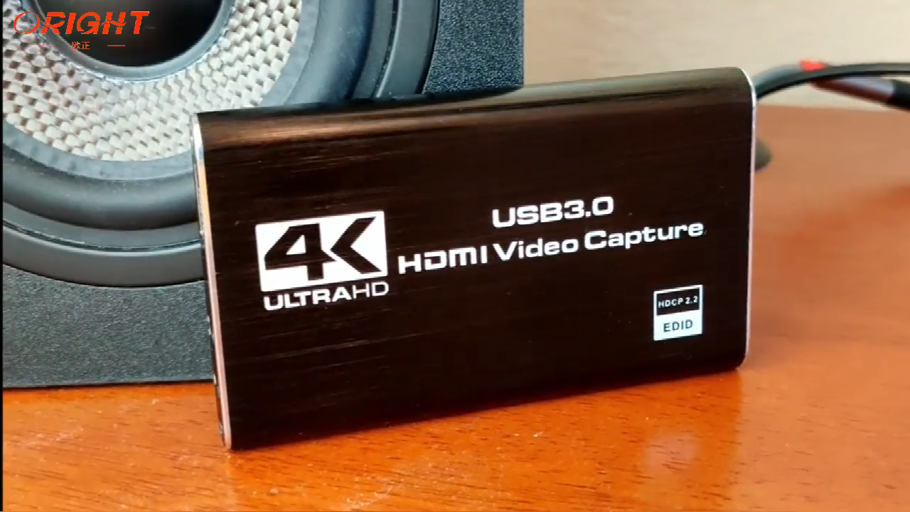 HDMI para USB 3,0 Tarjeta de captura de juegos 4K Audio Video Capture Card con HDMI Bucle de salida 1080P 60FPS Live-Streaming