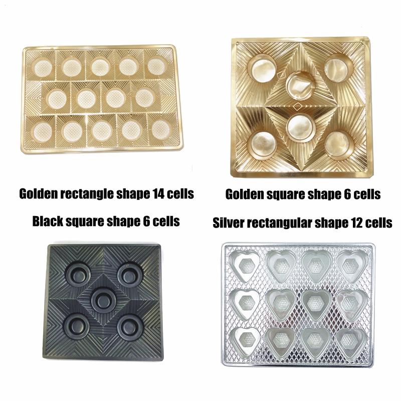 Venda quente Personalizado Inserção Blister Bandeja de Chocolate E Doces/Food Grau Da Bolha Embalagem/Bandejas Plásticas termoformadas