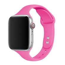 Тонкий силиконовый ремешок для apple watch 5 4 полоса 44 мм 40 мм iwatch 3 2 ремешок 42 мм 38 мм наручные спортивные ремешки для apple watch(Китай)