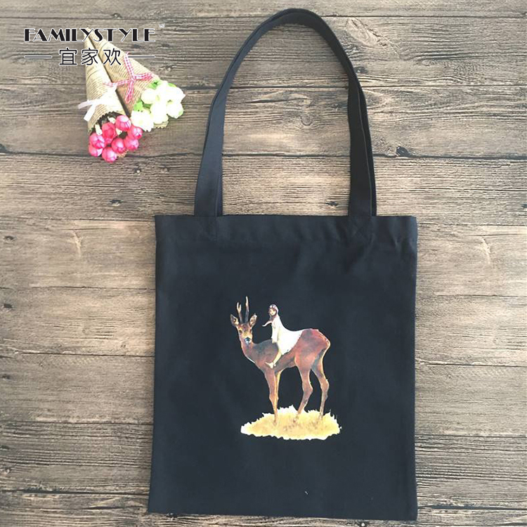 Tote Canvas Beach Bag with Custom Printed Logo