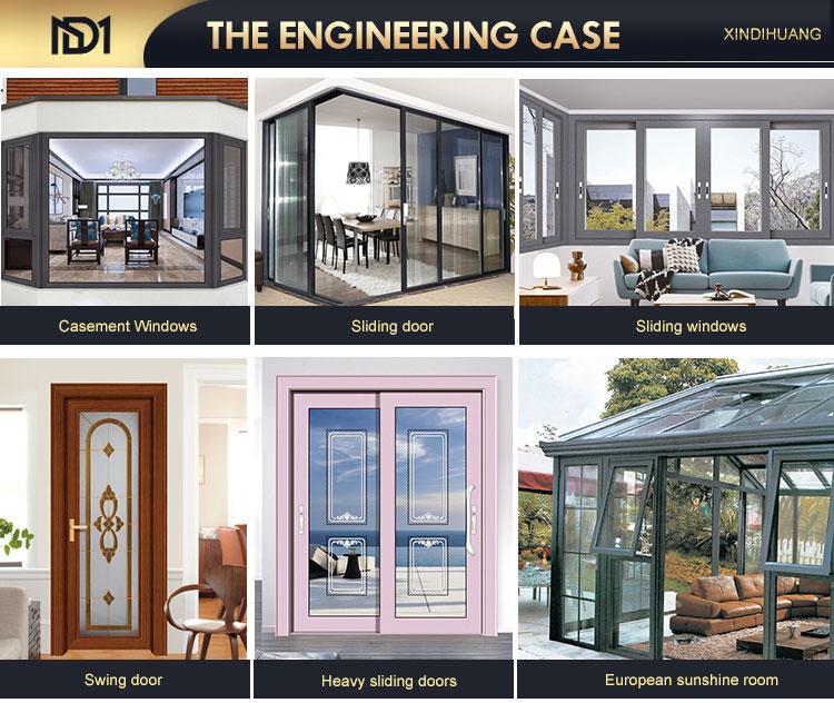 quality superior commercial hurricane resistant metal framed aluminum sliding glass door for villa building