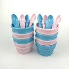 Good Design Plastic Melamine Ice Cream Cup Free Mould Wholesale With Spoon