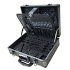 customize hard metal tool carrying box case trolley wheels with handle