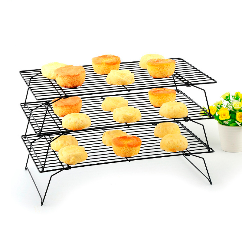 ठंडा रैक, ओवन/Dishwasher सुरक्षित स्टेनलेस स्टील पाक बरस रही के लिए रैक कुकीज़ केक पाईज़ रोटी, बंधनेवाला और Foldable