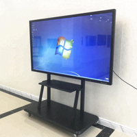 "65"" touch screen led multi touch interactive flat panel displays monitor for classroom education teacher use"