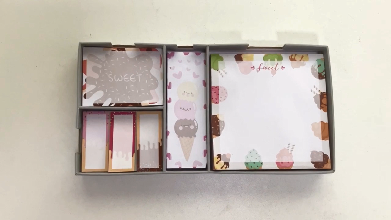 Myway Multi Rose Gouden Foliedruk Sticky Note Set, Memo Pad Custom, Memo Pads Kawaii
