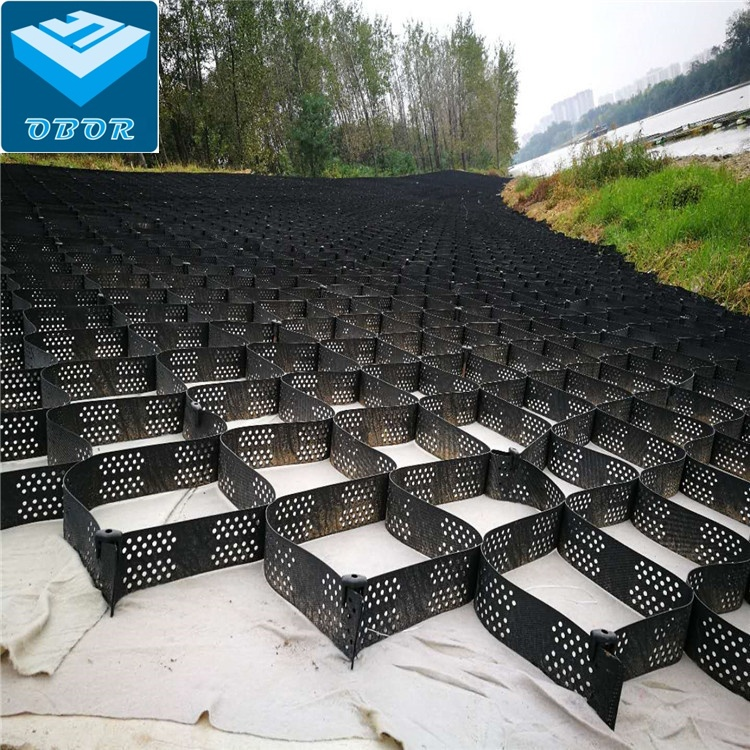 HDPE plastic black green brown textured smooth perforated unperforated geocells for ground paver manufacturer supply price