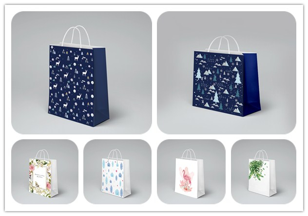 product-Dezheng-Custom Mini Printed Cookies Packaging Paper Bread Bags For Shopping-img-1