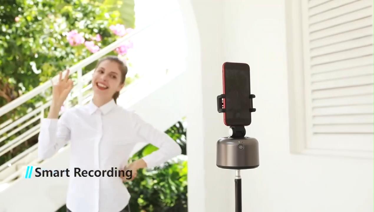 Xoay 360 Độ Tự Động Quay Video Trực Tiếp Đối Tượng Theo Dõi Điện Thoại Thông Minh Nhỏ Vlog Selfie Stick Chân Máy Điện Thoại Đen Apai Genie 2