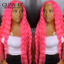 13х4 бразильские Remy кудрявые человеческие волосы парик preprucked 613 блонд розовый красный синий зеленый оранжевый Омбре цветной кружевной перед...(Китай)