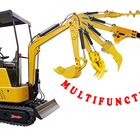 Excavator Price Mini 0.8T Small Digger 1 Ton With Rubber Track
