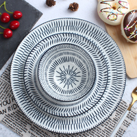 High Quality Custom Logo Porcelain Plates Dinner Plates Ceramic Dishes With LFGB Certification