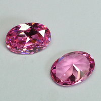 Loose Gemstone Jewelry Making Gemstones Beads Pink CZ Stone Oval Cut Pink Cubic Zirconia