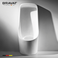 Bravat Public wall-hung toilet automatic ceramic urinal