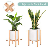 garden outdoor wood flower plant pot wooden stand rack for plants