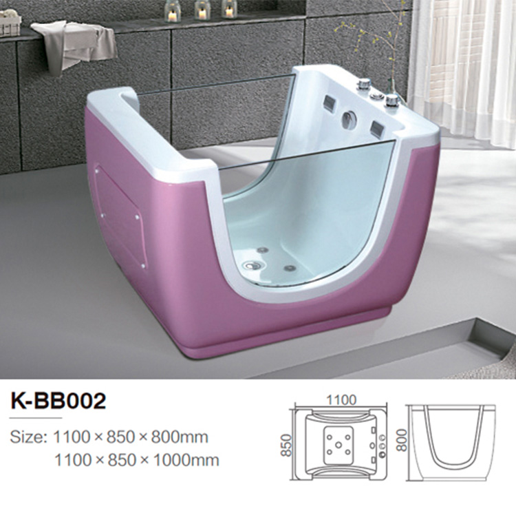 Indoor small blue baby bath tub with air bubble function
