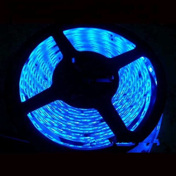 Cheap IP20 5m/roll 5050smd 1chip/led 60leds 4-5lm wide 10mm 4.8w 12v flexible led strip light for blue color