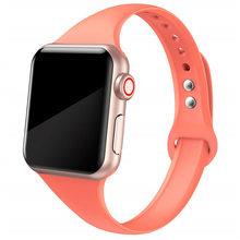 Ремешок для apple watch 4 полосы 44 мм 40 мм наручных часов iwatch, 4 полос 40 мм, 38 мм, спортивный силиконовый браслет, ремешок для наручных часов apple watch 5/3...(Китай)