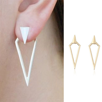 fashion Gold Triangle Earrings For Women Wholesale N91047