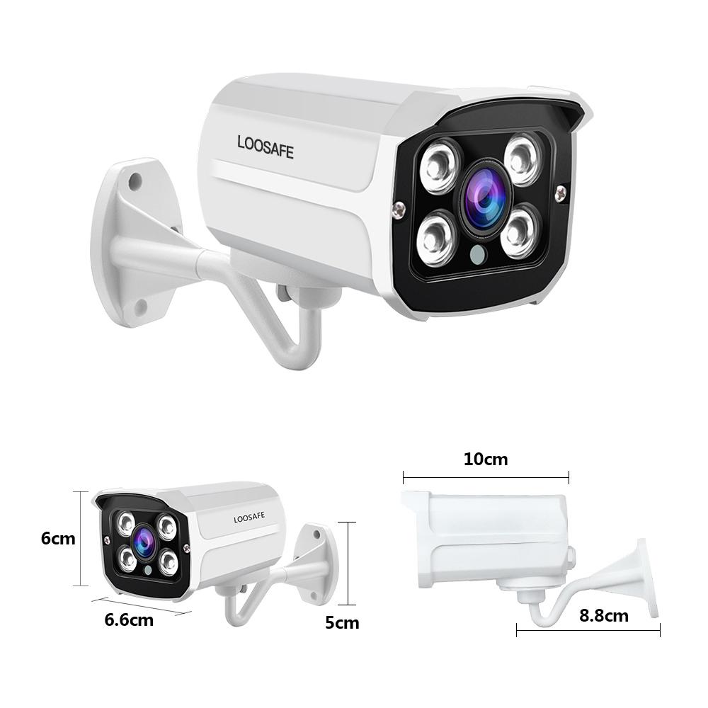 LOOSAFE 16CH 4K POE NVR Kit 5MP Outdoor IP66 Waterproof Bullet IP Camera 6T HDD CCTV System