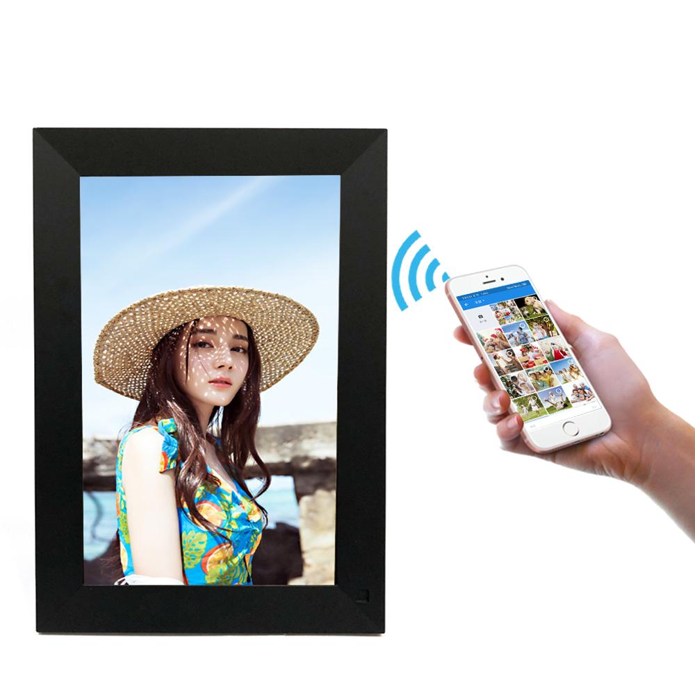 गर्म बेच 10.1 इंच आईपीएस वायरलेस वाईफ़ाई बादल डिजिटल फोटो फ्रेम एंड्रॉयड प्रणाली के साथ टच स्क्रीन