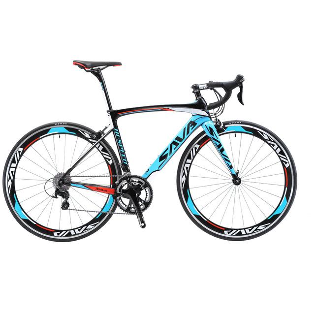 18 hız disk fren yol bisikleti karbon fiber çerçeve 24 inç bisiklet yetişkinler için, boy 160CM-190CM