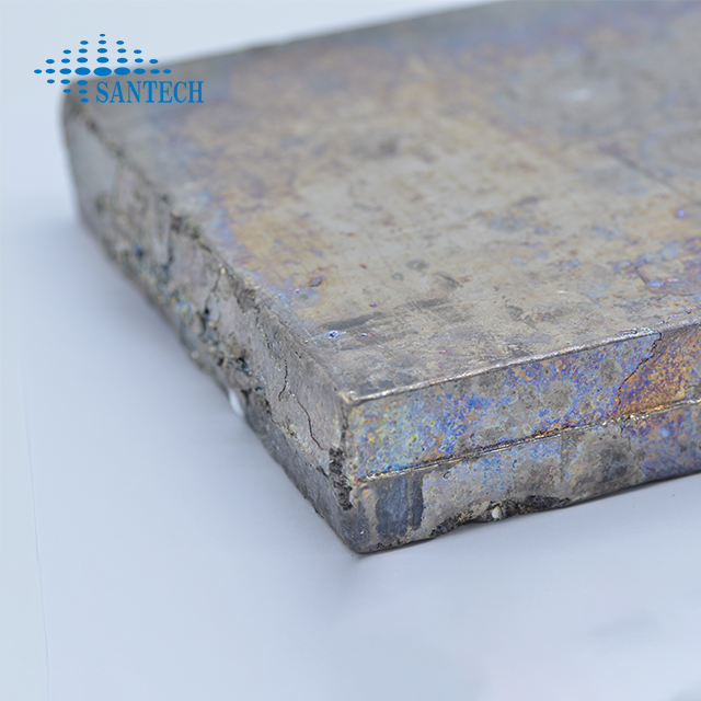 High purity bismuth ingot used for zinc plating and in zinc bath instead of lead