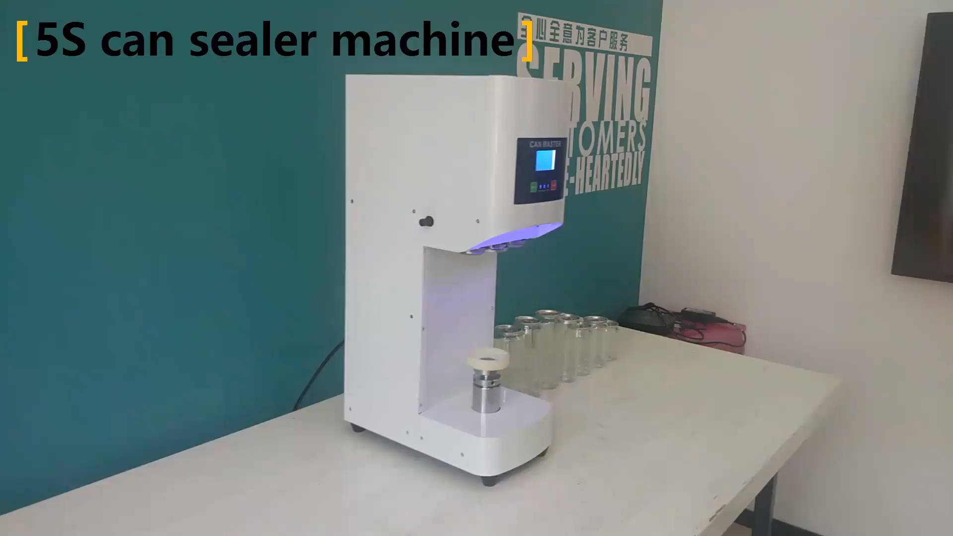 New Upgrade Automatic Plastic Aluminum Can Sealer Tin Can Sealing Machine