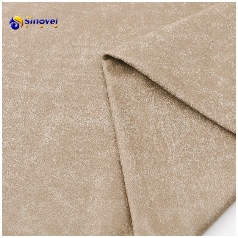 100% polyester bonded bronzing suede