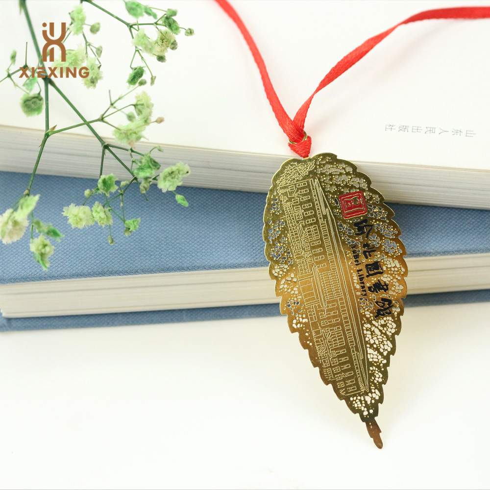 Custom gold brass bookmark <strong>metal</strong> with tassel