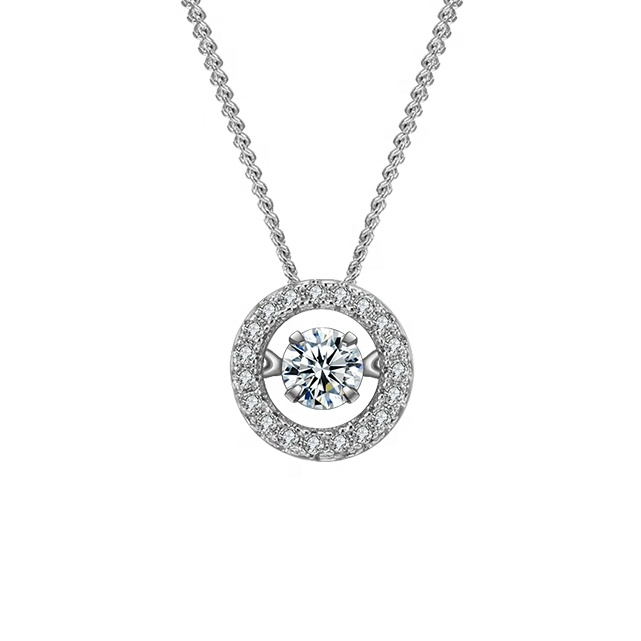 N803706 xuping dainty fashion jewelry necklace, cz ladies necklace, moving stone gemstone zircon necklace