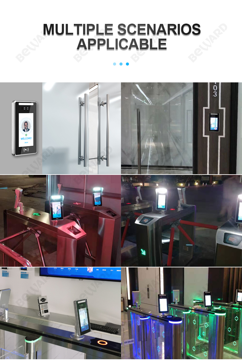 Beward face recognition camera access control system door lock for Turnstile