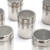 Cheap price durable kitchen metal spice jar stainless steel salt pepper shaker with cover